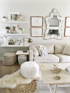 all white in your living room