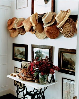 hang your hats on wall