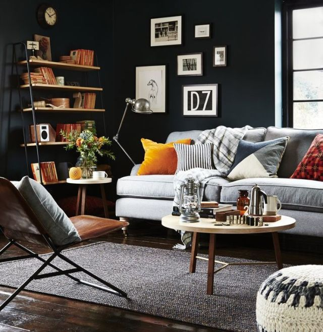 use dark style in your living room