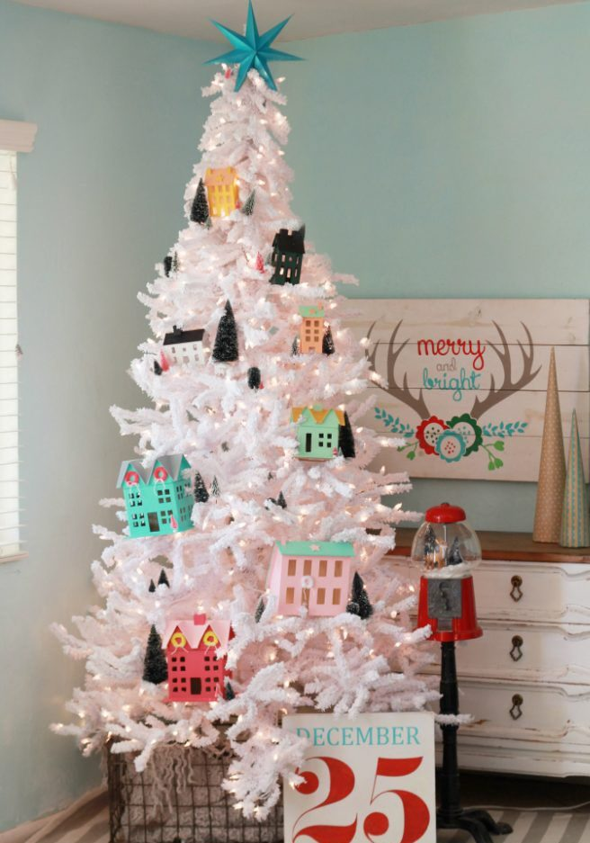 DIY Christmas village sets