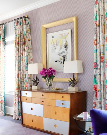 abstract printed curtains