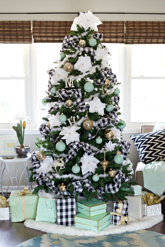 black-and-white fabric in your tree