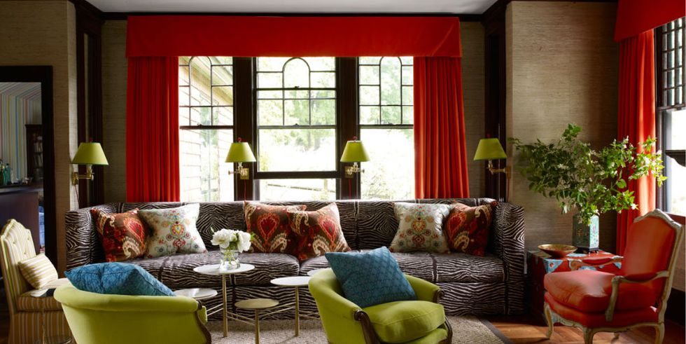 bold red curtain