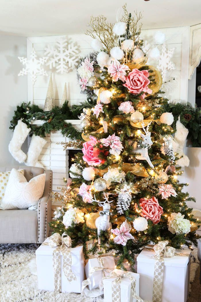 pink & gold Christmas tree