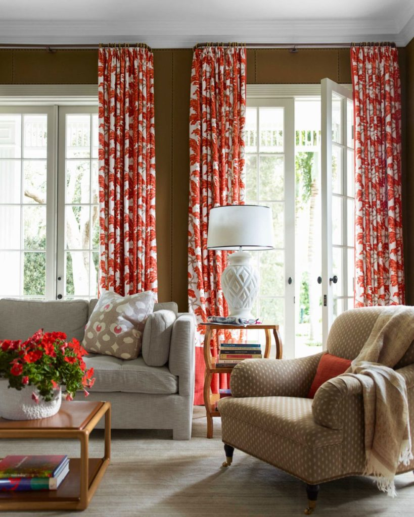 whimsical printed curtains