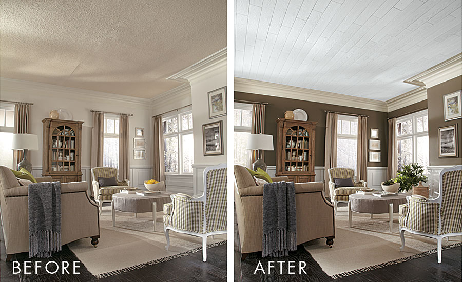 remove the popcorn ceilings | modern home