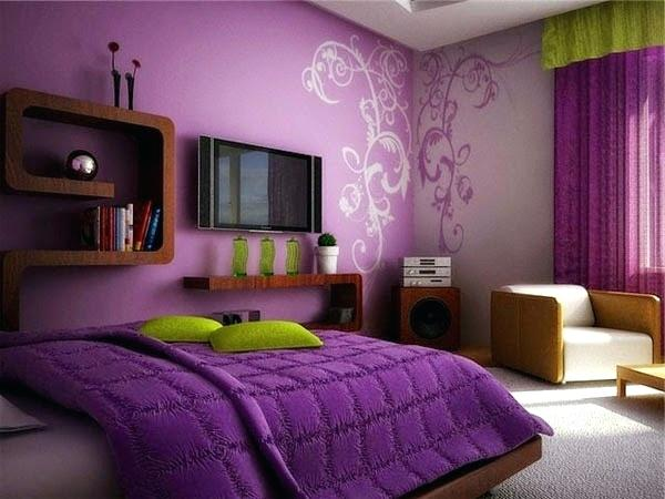 bright color use in small bedroom