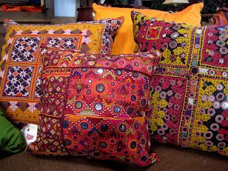 pretty colorful cushions