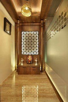 somber and traditional   mandir decoration ideas