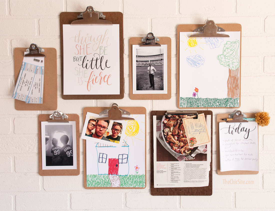 clipboard wall art | DIY art