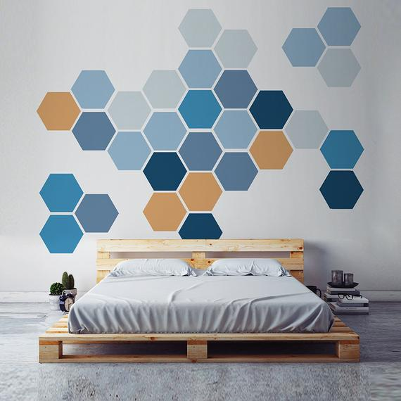 colorful honeycomb art | DIY art
