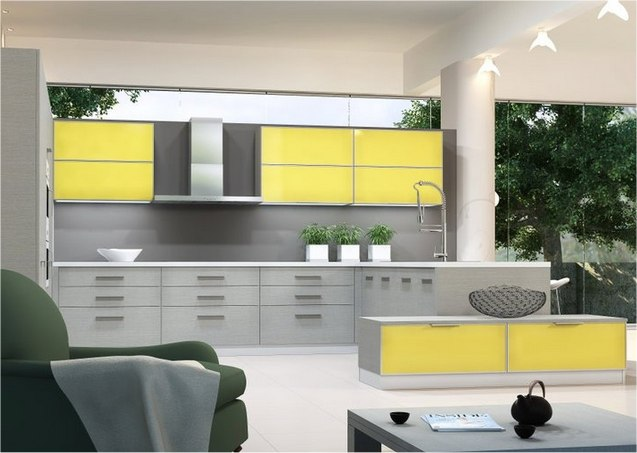 gray and yellow cabinet   modern cabinet
