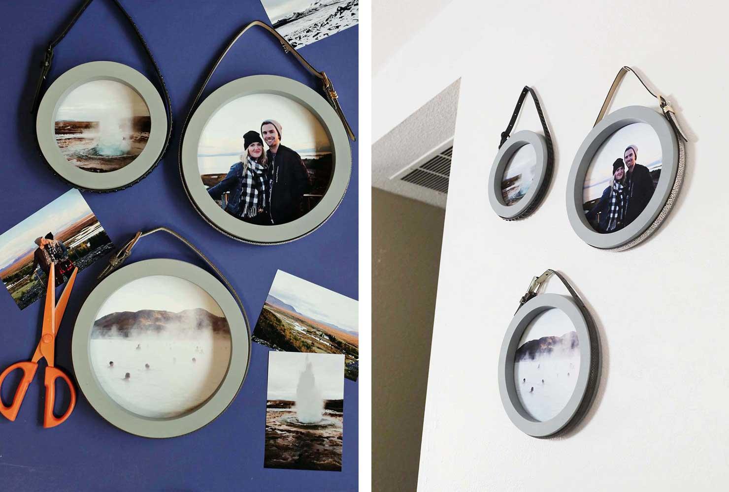 mirror photo frame | photo frame decoration ideas
