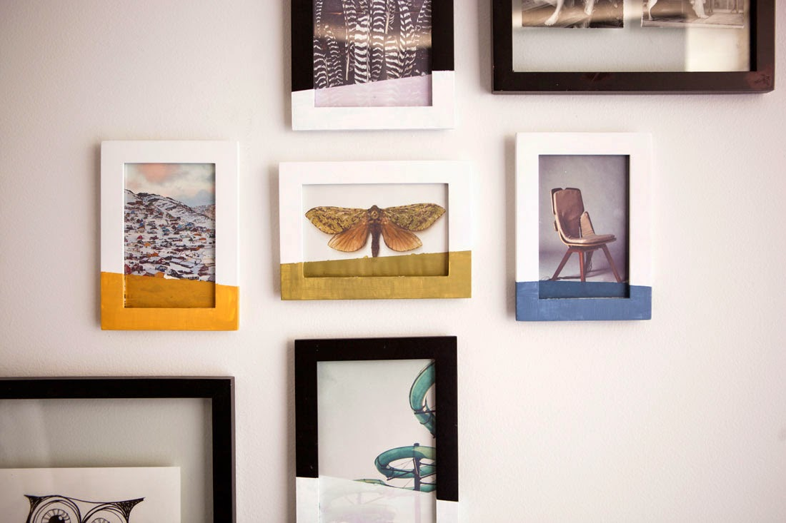 paint-dipped photo frame | photo frame decoration ideas