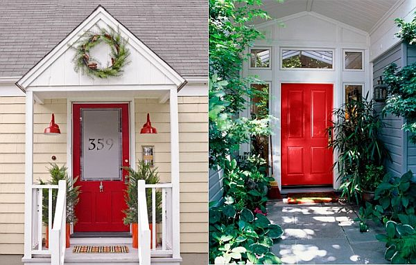 red home front door | home decor tips