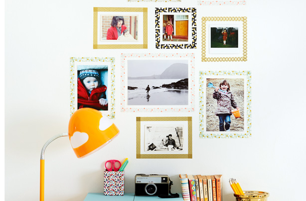 tape picture frames | DIY art