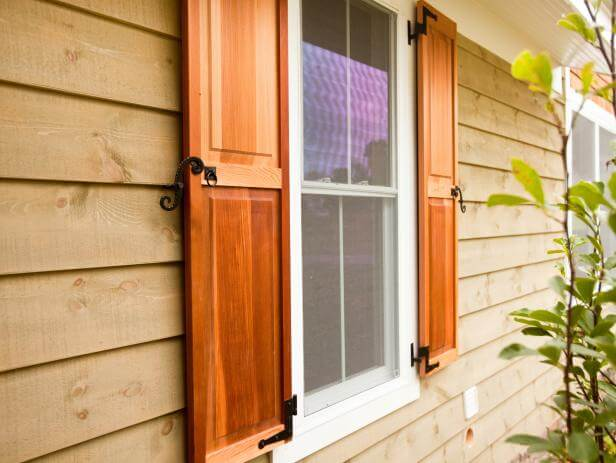 install Decorative Shutters for exterior windows