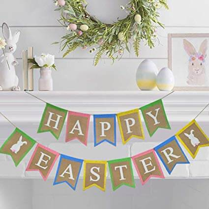 Easter bunting bunnies