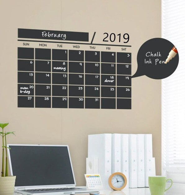 Blackboard Planner With a wall decal
