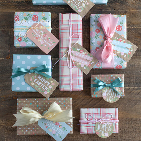 Floral Wrapping paper sets
