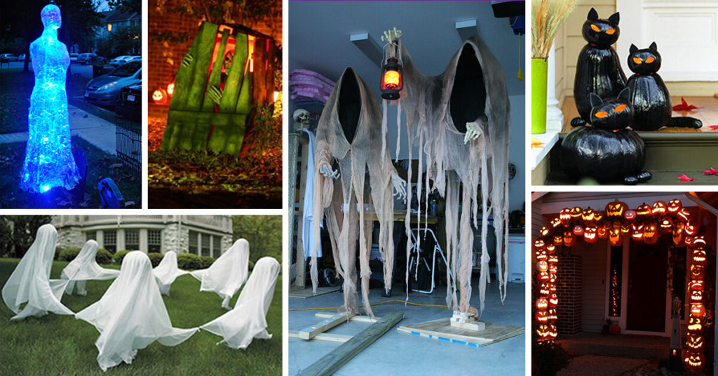 Ghost-Lit Walkway: Halloween Decoration