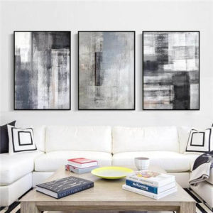 Monotoned Abstract Art for Wall:Office wall decor ideas