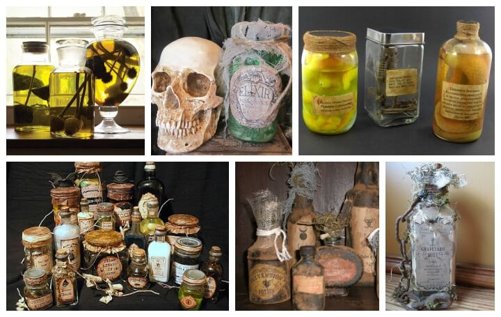 Specimen jars::Halloween decorations