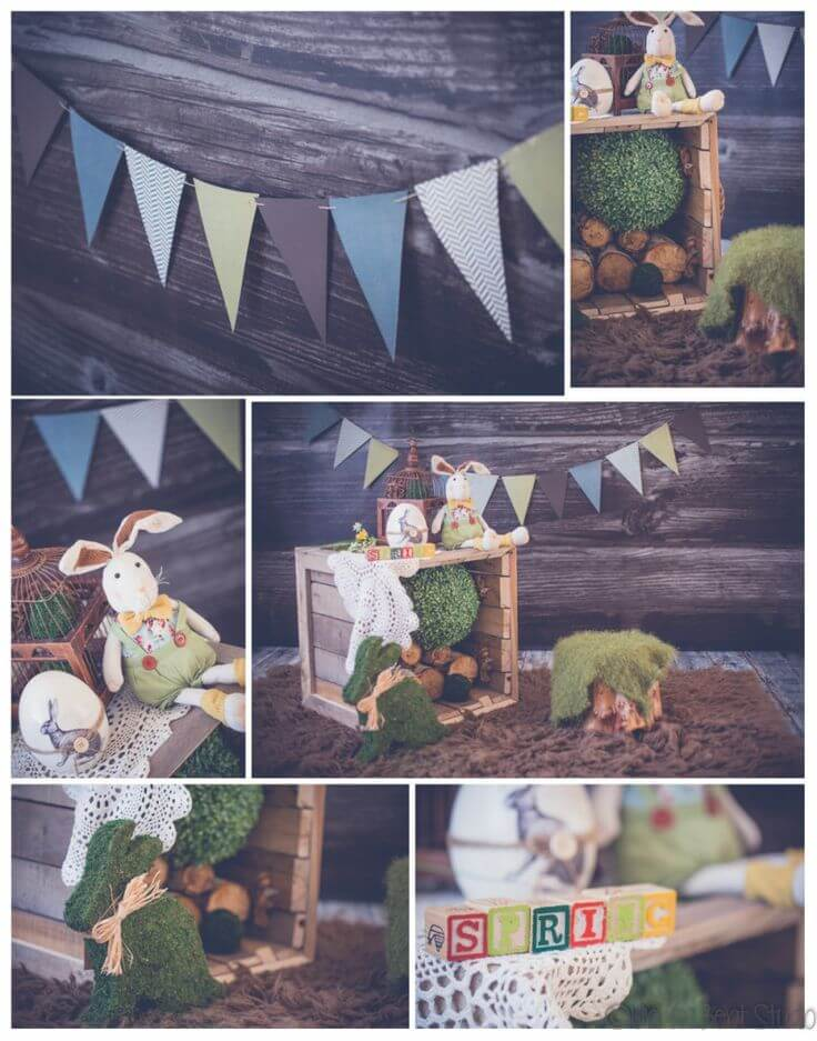 Easter Door Decoration Woodland Theme
