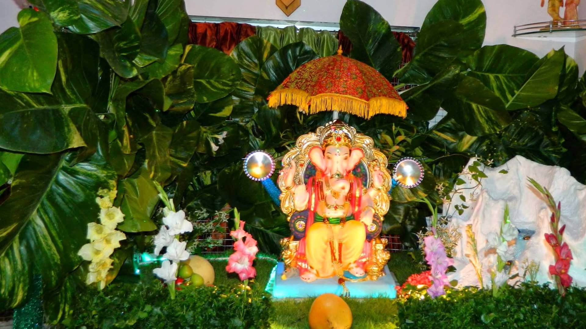 Go Green Eco-Friendly Ganpati Decoration