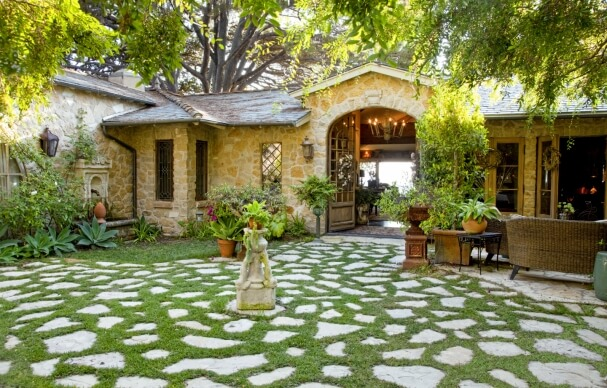 add some greenery as a natural accent front door