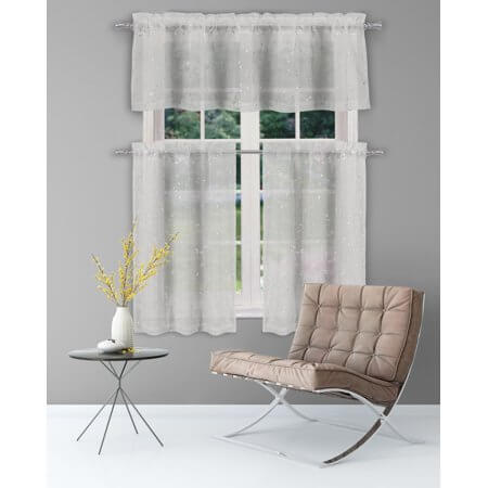 3. Small Sheer Curtain for Kitchen
