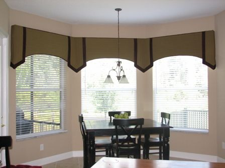 Contemporary window valance cornice