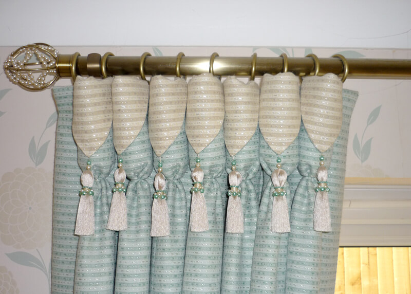 Traditional Drapery with Goblet Pleats:Curtains For Arched Windows