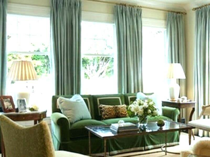 Add multiple arch windows curtains on with adjacent walls