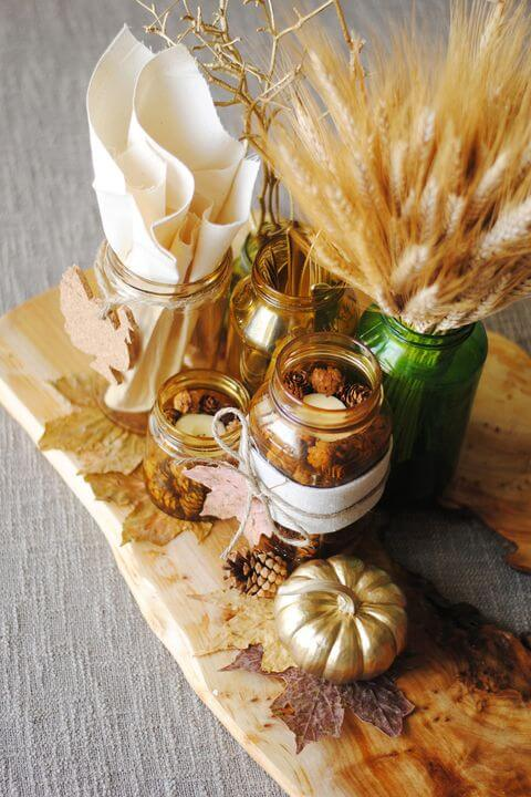 Statement of gold pieces:Thanksgiving Decorations