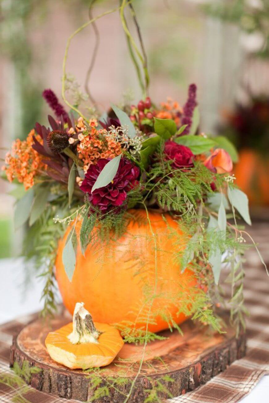 Pumpkin Vine Centerpiece