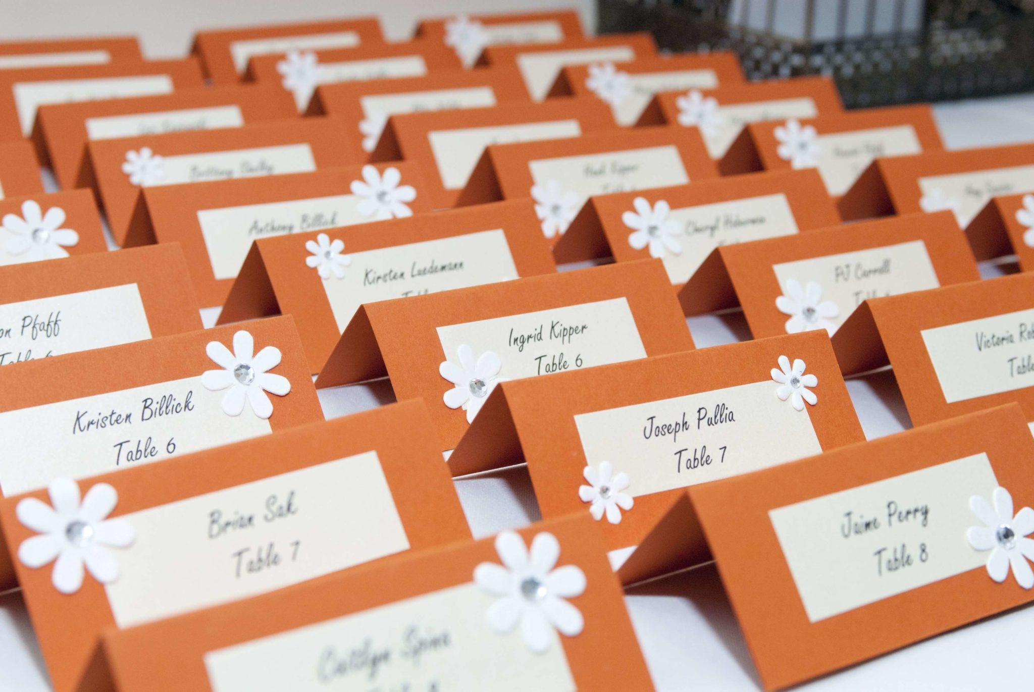 Place Cards with Purpose