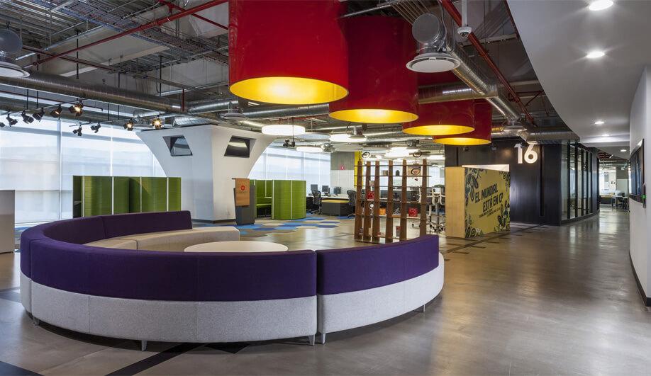 3. Colourful Interiors