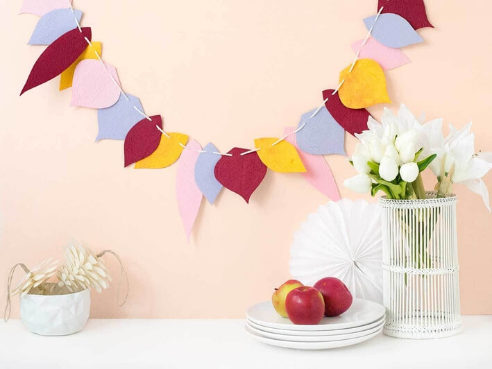 Paper Fall Leaf Garland