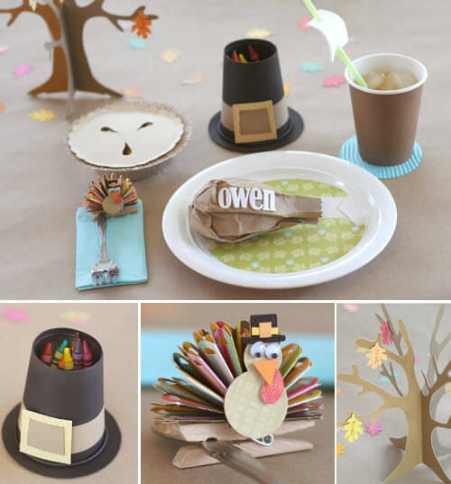Creative kids Table:15 Best Ideas for Thanksgiving Decorations